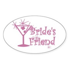 Pink C Martini Bride's Friend Oval Decal