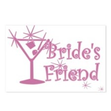 Pink C Martini Bride's Friend Postcards (Package o