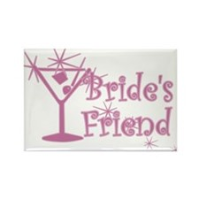 Pink C Martini Bride's Friend Rectangle Magnet