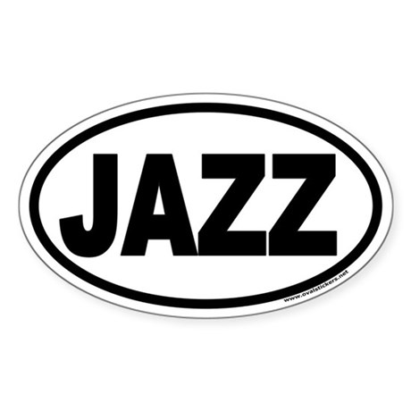 JAZZ Euro Oval Sticker