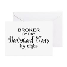 Broker Devoted Mom Greeting Cards (Pk of 10)