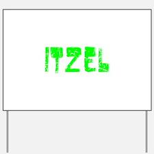 Itzel Faded (Green) Yard Sign