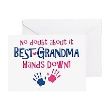 Hands Down Best Grandma Greeting Card