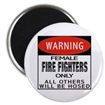 Female Fire Fighter Magnet