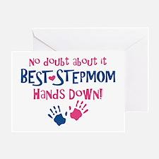 Hands Down Best Stepmom Greeting Card