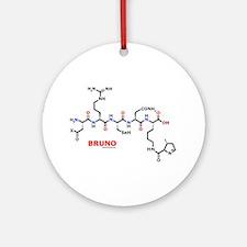 Bruno name molecule Ornament (Round)