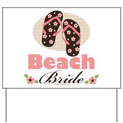 Beach Bride Wedding Yard Sign