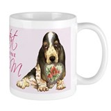 Basset hound mom Small Mugs (11 oz)
