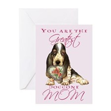 Basset I Love Mom Greeting Card