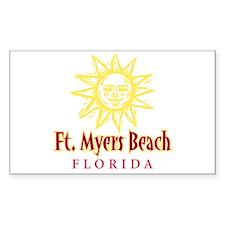 Ft. Myers Beach Sun - Rectangle Decal