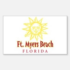 Ft. Myers Beach Sun - Rectangle Decal