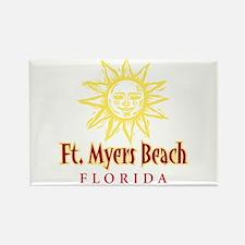 Ft. Myers Beach Sun - Rectangle Magnet