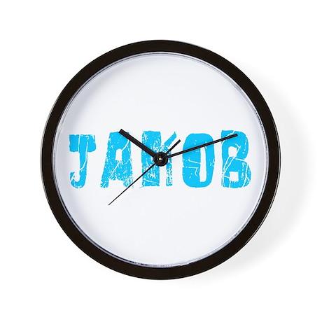 Jakob Faded (Blue) Wall Clock