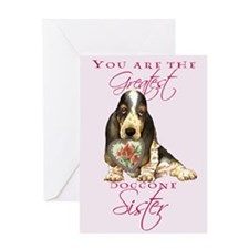 Basset I Love Sister Greeting Card