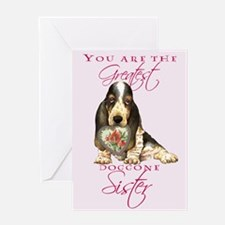 Basset Sister Mother's Day Greeting Card
