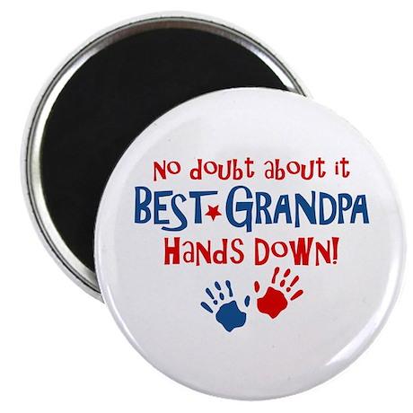 "Hands Down Best Grandpa 2.25"" Magnet (10 pack)"
