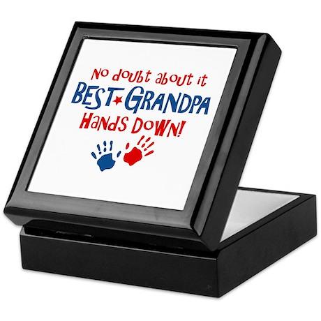 Hands Down Best Grandpa Keepsake Box
