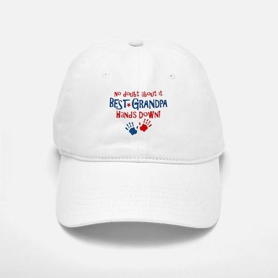 Hands Down Best Grandpa Baseball Baseball Cap