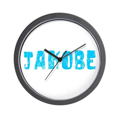 Jakobe Faded (Blue) Wall Clock