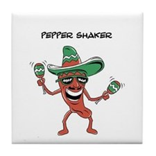 Cinco de Mayo Pepper Shaker Tile Coaster