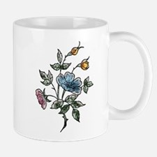 Blue Floral Art Mug