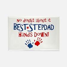Hands Down Best Stepdad Rectangle Magnet