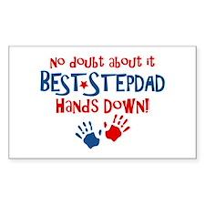Hands Down Best Stepdad Rectangle Decal