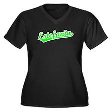 Retro Estefania (Green) Women's Plus Size V-Neck D