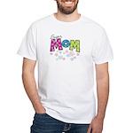 Super Mom White T-Shirt