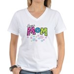 Super Mom Women's V-Neck T-Shirt