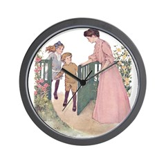 Mother at the Gate Wall Clock