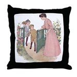 Mother at the Gate Throw Pillow