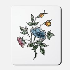Blue Floral Art Mousepad
