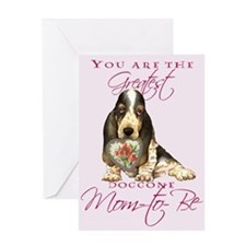 Basset I Love Mom-to-Be Greeting Card