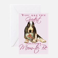 Basset Mom-to-Be Mother's Day Greeting Card