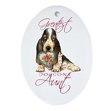 Basset Aunt Oval Ornament