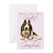 Basset Grandma Mother's Day Greeting Card