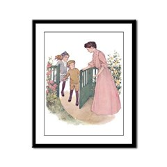 Mother at the Gate Framed Panel Print