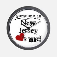 Someone in New Jersey Wall Clock
