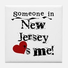 Someone in New Jersey Tile Coaster