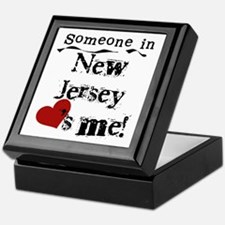 Someone in New Jersey Keepsake Box