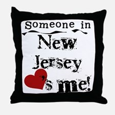 Someone in New Jersey Throw Pillow