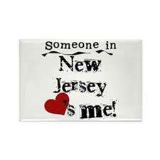Someone in New Jersey Rectangle Magnet