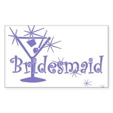 Indigo C Martini Bridesmaid Rectangle Decal