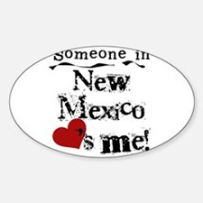 New Mexico Loves Me Oval Decal