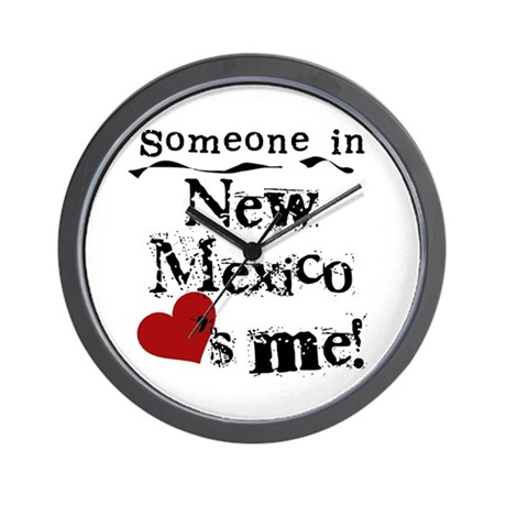 New Mexico Loves Me Wall Clock