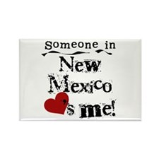 New Mexico Loves Me Rectangle Magnet