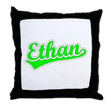 Retro Ethan (Green) Throw Pillow
