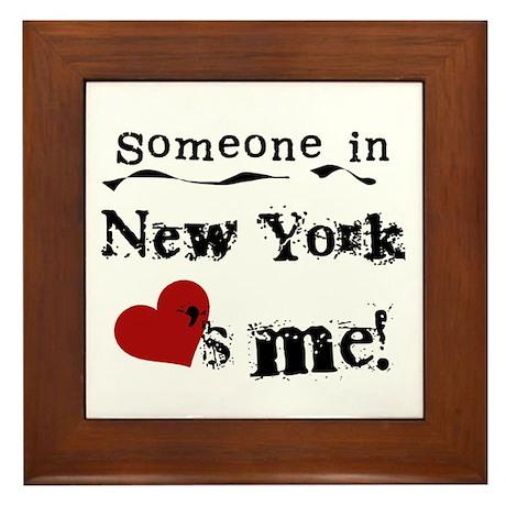 Someone in New York Framed Tile
