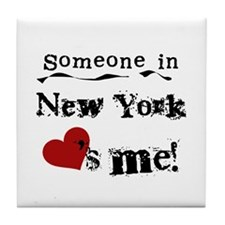 Someone in New York Tile Coaster